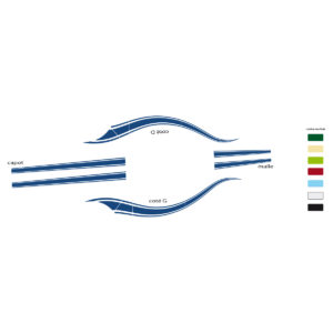Cabriolet Hoffman Bleu – Stickers